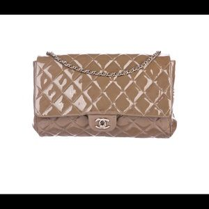 Chanel Patent Quilted Flap Bag